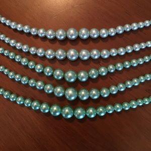 Jewelry - Vintage Ombré Faux Pearl Necklace